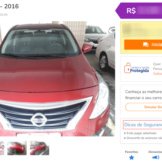 Como e onde vender carros usados na internet