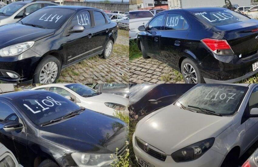Leilão do Detran tem veículos com lances a partir de R$100,00