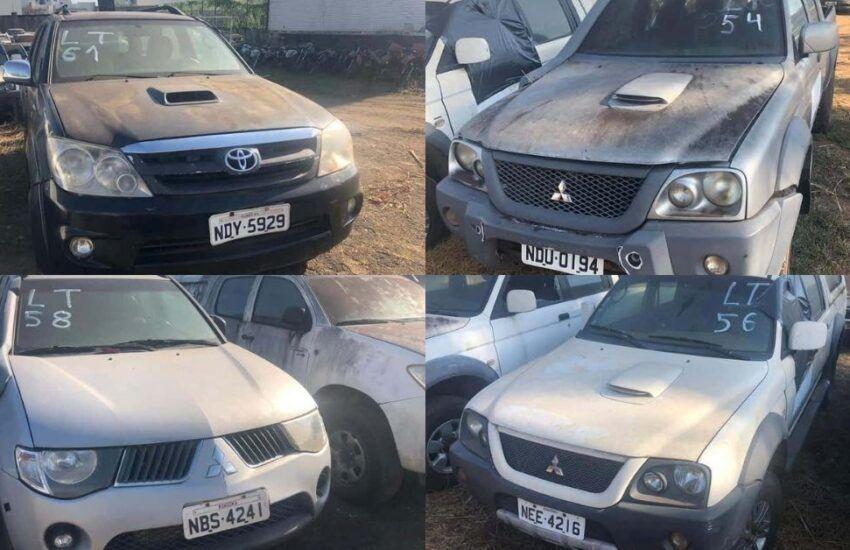 Leilão online tem veículos com lance inicial de R$350,00