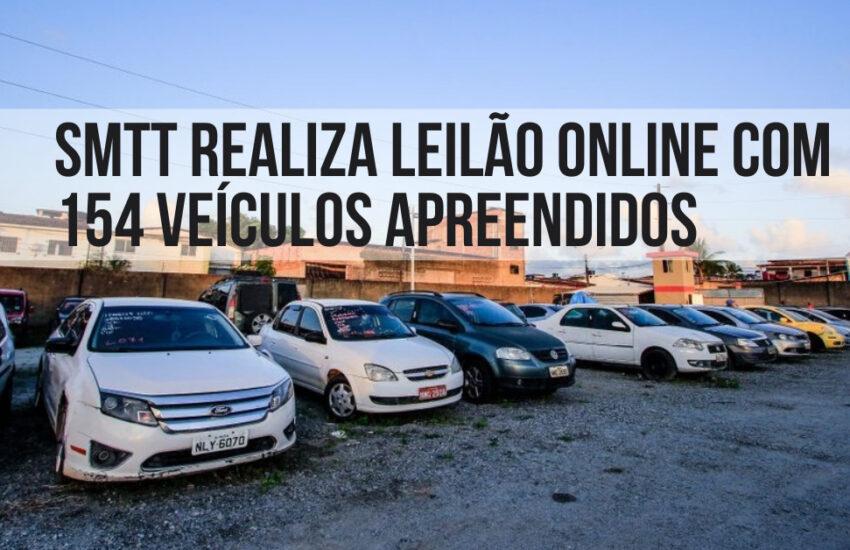 SMTT realiza leilão online com 154 veículos apreendidos