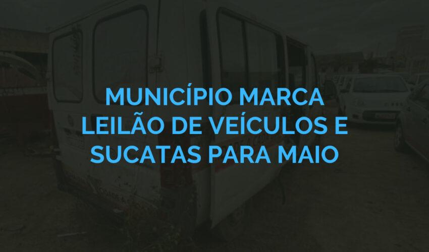Município marca leilão de veículos e sucatas para maio